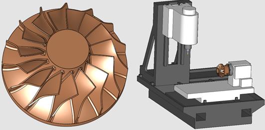 如何用Cimatron的四轴功能加工叶轮