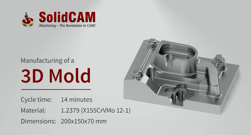 Manufacturing of a 3D Mold with iMachining-new