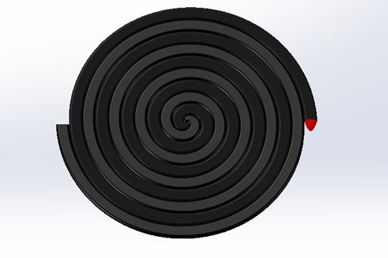 solidworks 蚊香外形建模过程—— 草图绘制 螺旋线 扫描 (25附视频)