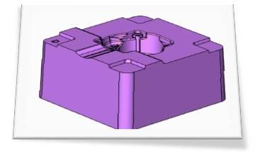 注塑模型腔五轴联动铣